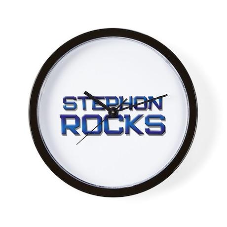 stephon rocks Wall Clock