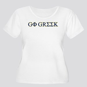 Go Greek Women's Plus Size Scoop Neck T-Shirt