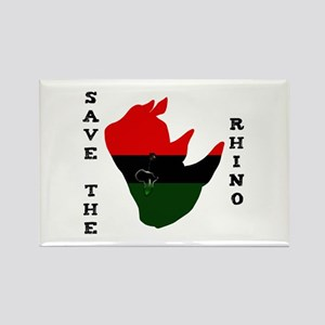 Save Rhino Africa Tear White Rectangle Magnet
