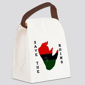 Save Rhino Africa Tear White Canvas Lunch Bag