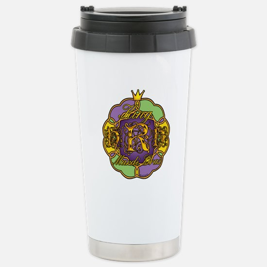 Mardi Gras HRH King Stainless Steel Travel Mug