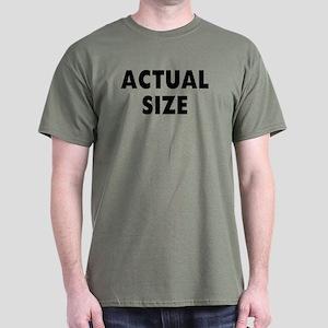 Actual Size Dark T-Shirt