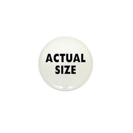 Actual Size Mini Button
