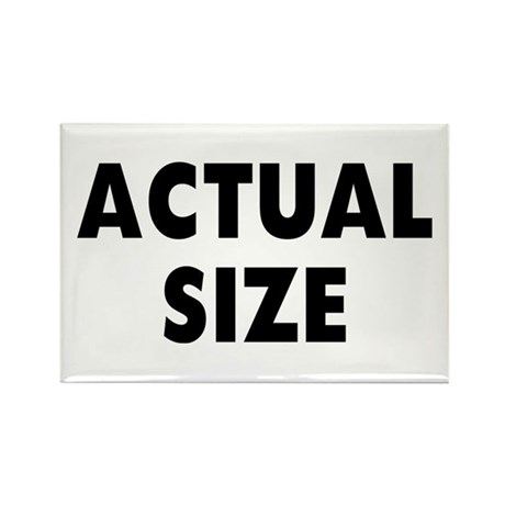 Actual Size Rectangle Magnet