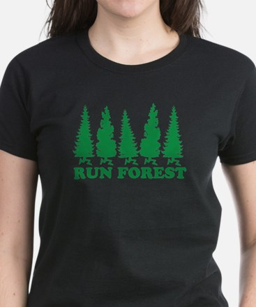 Run Forest Women's Dark T-Shirt