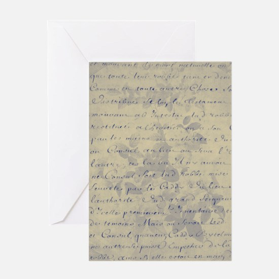Aged Floral Letter Greeting Cards