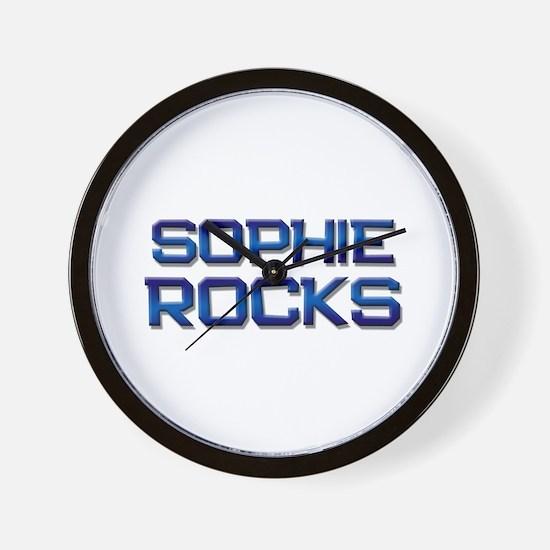 sophie rocks Wall Clock