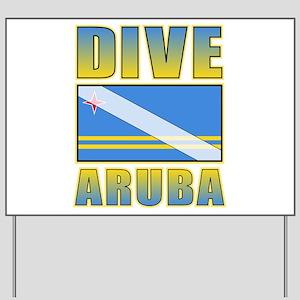 Scuba Dive Aruba Yard Sign