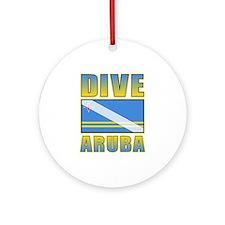 Scuba Dive Aruba Ornament (Round)