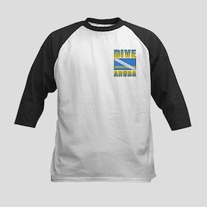 Two Sides Printed Dive Aruba Kids Baseball Jersey