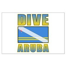 Scuba Dive Aruba Large Poster
