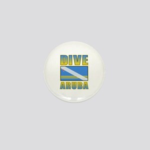 Scuba Dive Aruba Mini Button