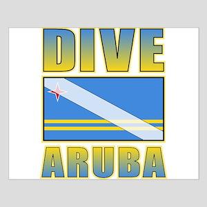 Scuba Dive Aruba Small Poster