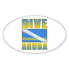 Scuba Dive Aruba Oval Sticker