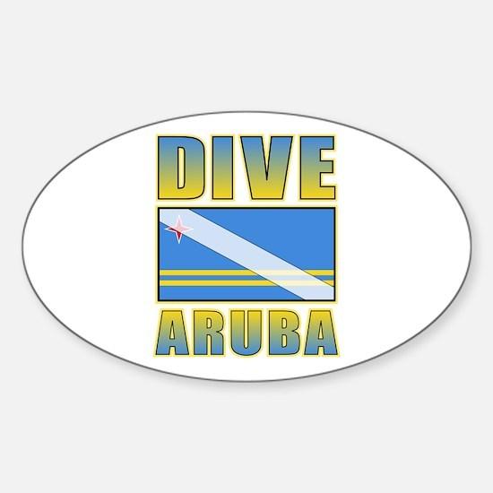 Scuba Dive Aruba Oval Decal