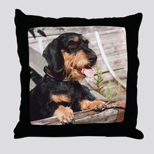 Wire Haired Afternoon Throw Pillow