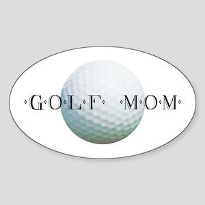 Golf Mom Oval Sticker