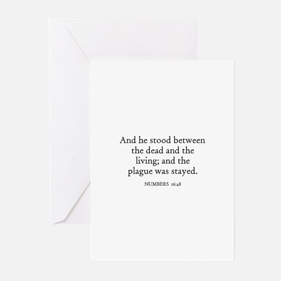 NUMBERS  16:48 Greeting Cards (Pk of 10)