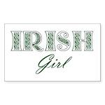 Irish Girl Rectangle Sticker 50 pk)