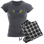 Capoeira Women's Charcoal Pajamas