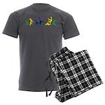 Capoeira Men's Charcoal Pajamas