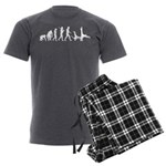 Evolution of Capoeira Men's Charcoal Pajamas