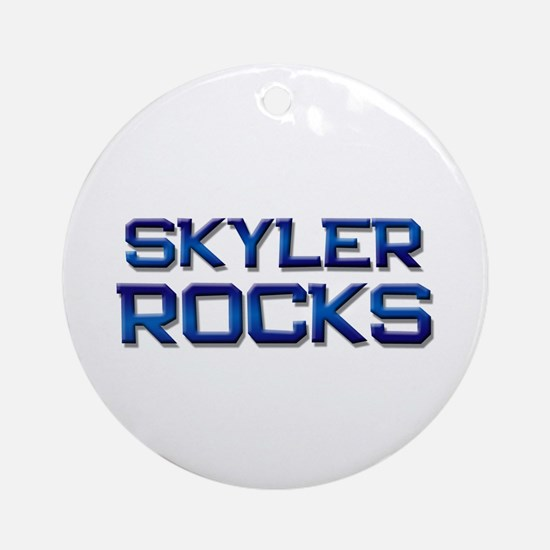 skyler rocks Ornament (Round)