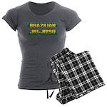 Brazilian Jiu Jitsu Women's Charcoal Pajamas
