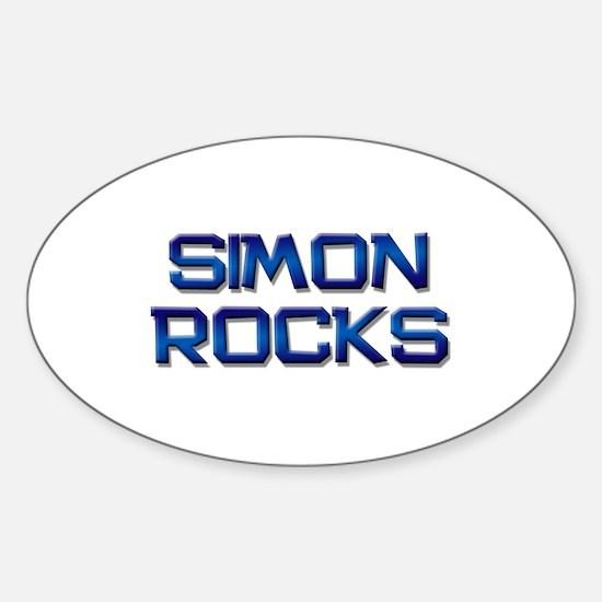 simon rocks Oval Decal