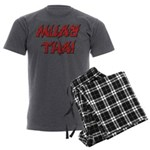 Muay Thai Men's Charcoal Pajamas