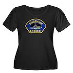Burbank Police Women's Plus Size Scoop Neck Dark T