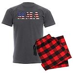 USA MMA Men's Charcoal Pajamas