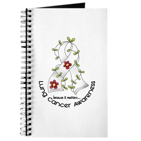 Flower Ribbon LUNG CANCER Journal