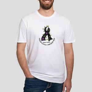 Flower Ribbon MELANOMA Fitted T-Shirt