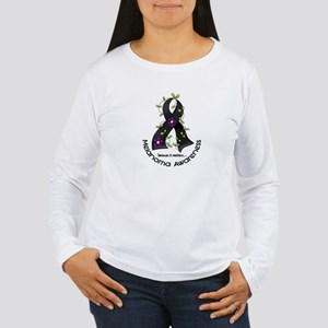 Flower Ribbon MELANOMA Women's Long Sleeve T-Shirt