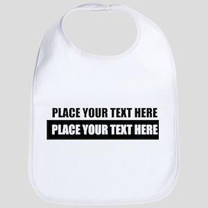 Text message Customized Cotton Baby Bib
