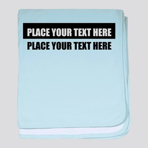 Text message Customized baby blanket