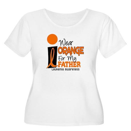 I Wear Orange For My Father 9 Leukemia Women's Plu