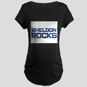 sheldon rocks Maternity Dark T-Shirt