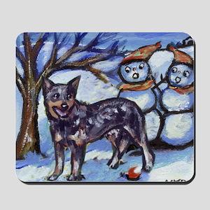Australian Cattle Dog Winter Mousepad