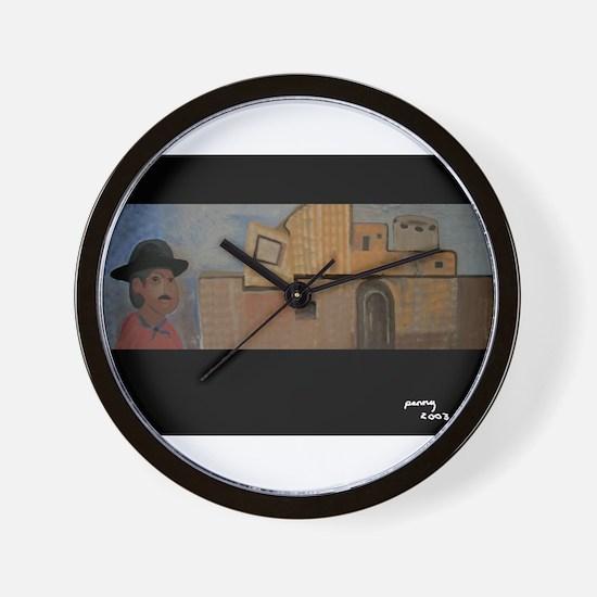 Southwestern Adobe Wall Clock