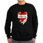 Autism Advocate Tattoo Heart Sweatshirt (dark)