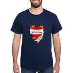 Autism Advocate Tattoo Heart Dark T-Shirt