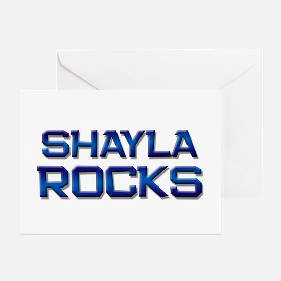 shayla rocks Greeting Card