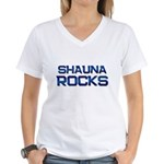 shauna rocks Women's V-Neck T-Shirt