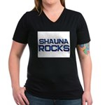 shauna rocks Women's V-Neck Dark T-Shirt
