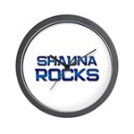 shauna rocks Wall Clock