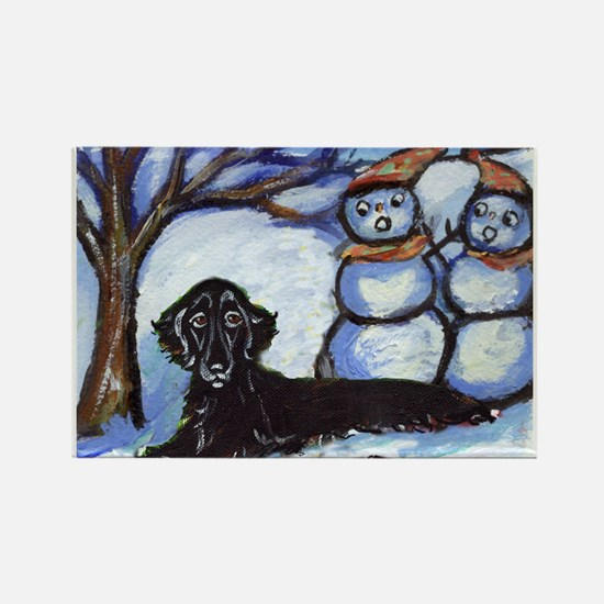 Flattie Winter Season Design Rectangle Magnet (10