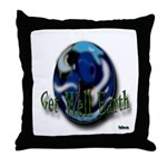Earth Day Get Well Earth Throw Pillow