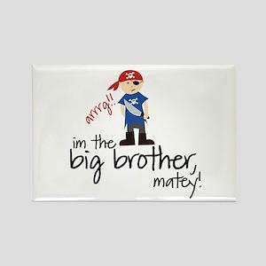 big brother shirt pirate Rectangle Magnet